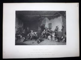 After David Wilkie C1870 Antique Print. Blind Man's Buff